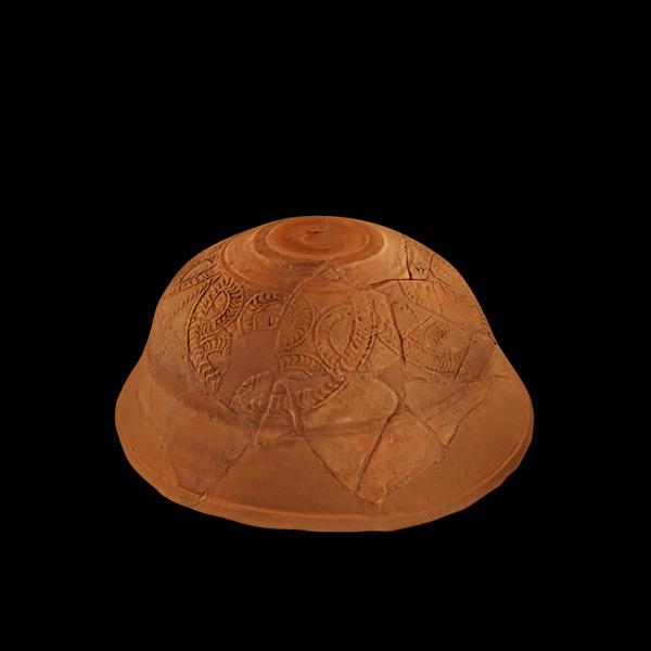 Cunca de cerámica romana de Terra Sigillata Hispánica Tardía