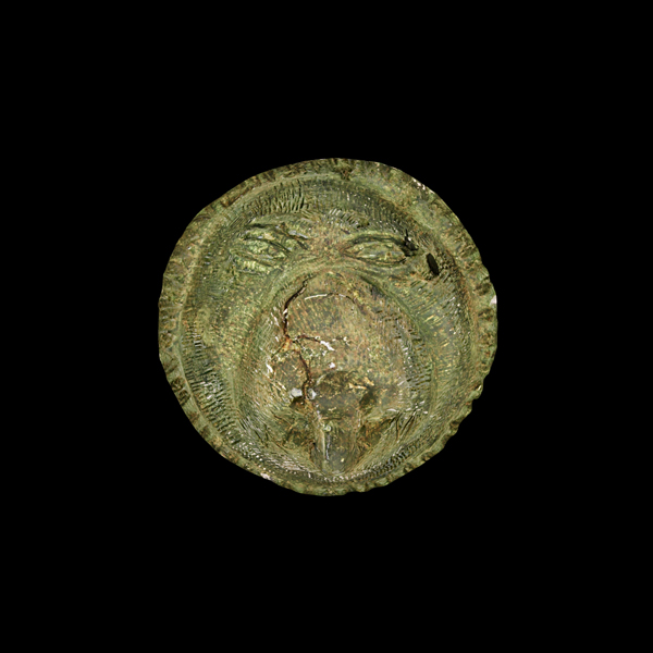 Ornament with lion head