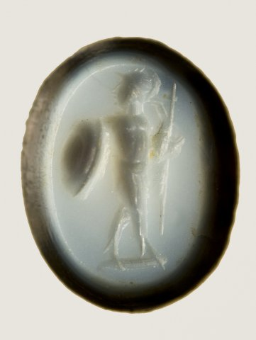 Xema con figura do deus Marte