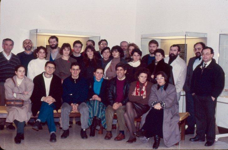 1989. Socios fundadores da Asociación de Amigos do Museo