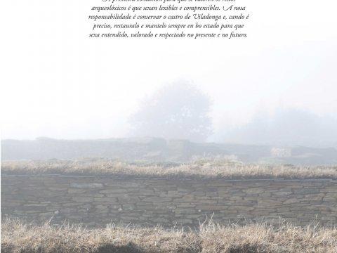 Cartel da exposición A conservación e restauración do Castro de Viladonga.